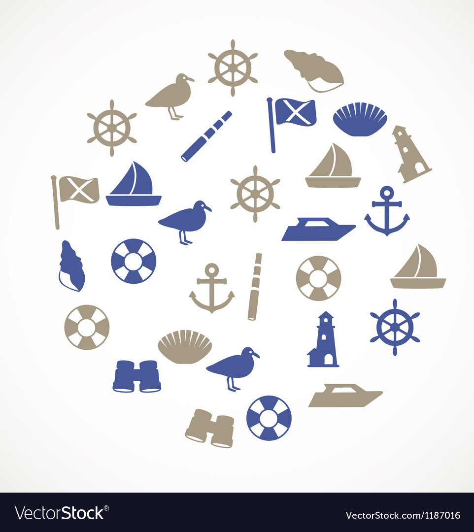 Seaside icons vector | Price: 1 Credit (USD $1)