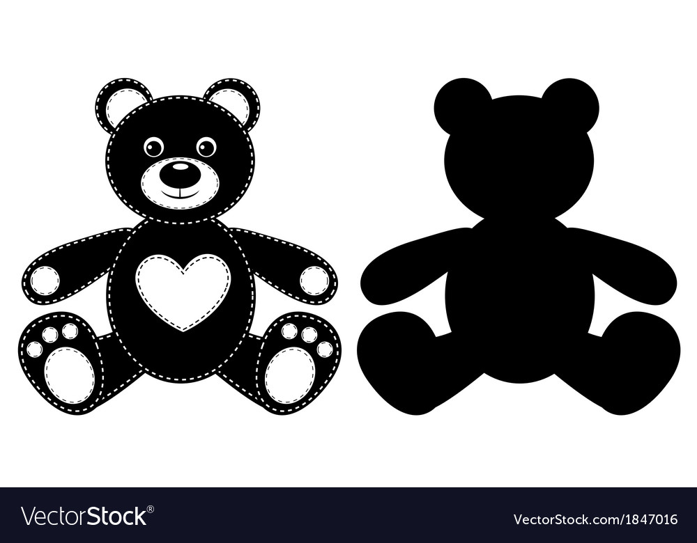 Silhouette of a bear vector | Price: 1 Credit (USD $1)