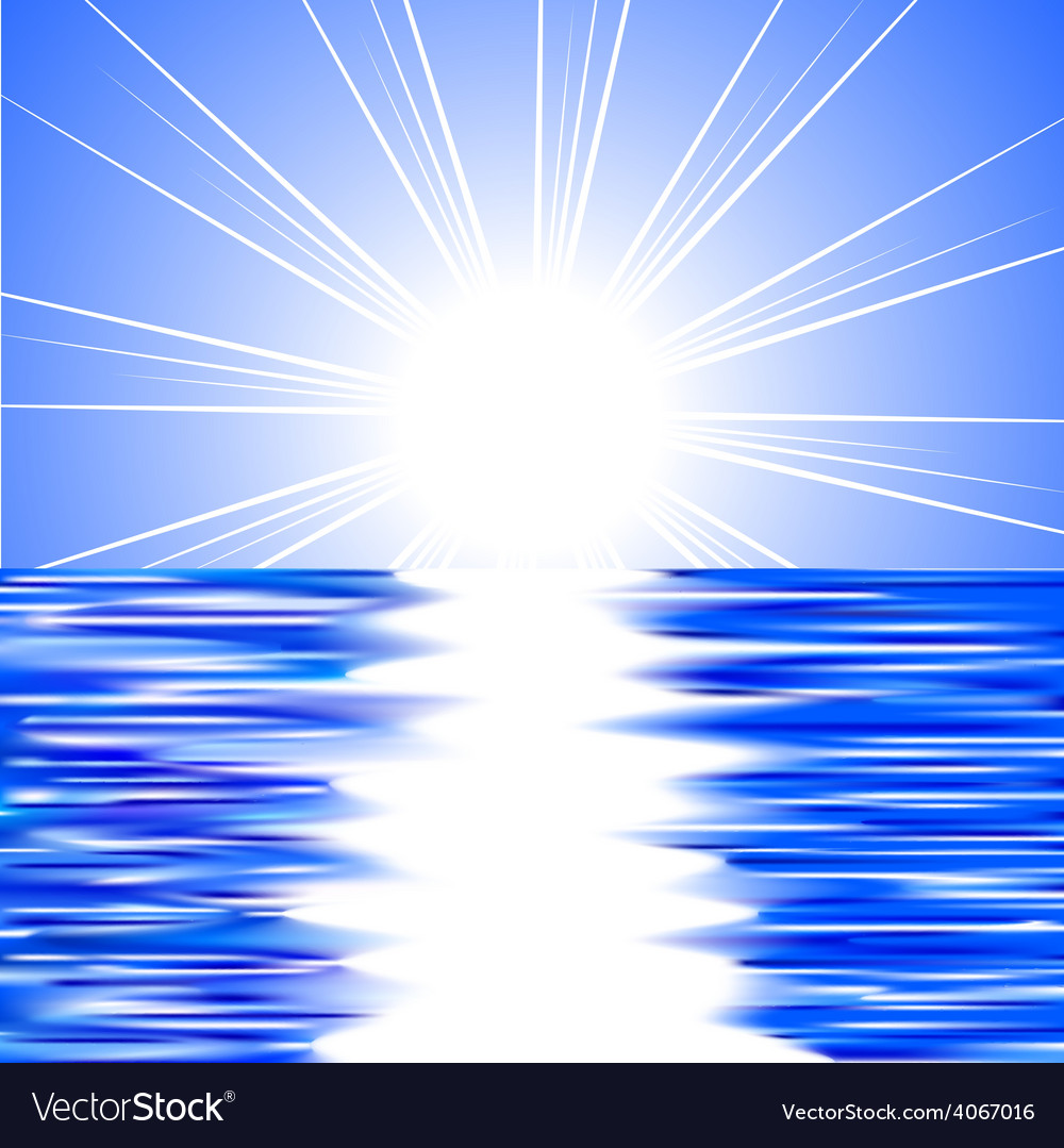 Sun and water vector | Price: 1 Credit (USD $1)