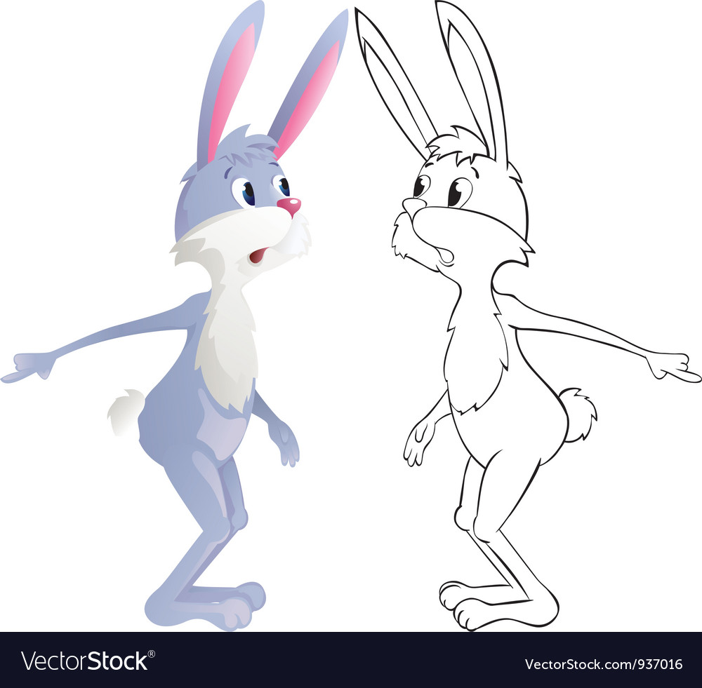 Surprised rabbit vector | Price: 1 Credit (USD $1)