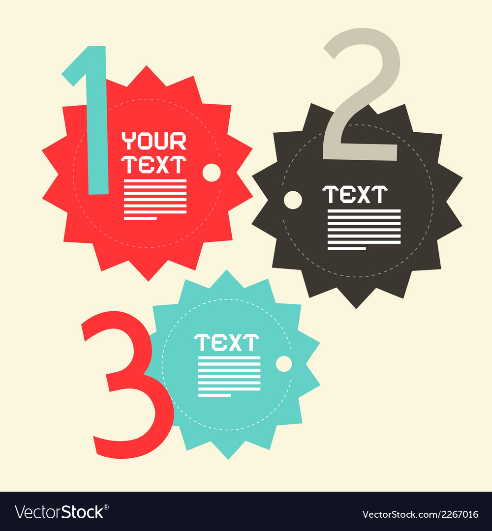 Three steps paper infographics flat design layout vector | Price: 1 Credit (USD $1)