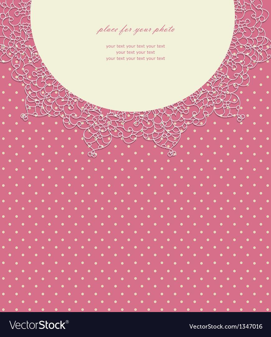 Vintage pink wedding card vector | Price: 1 Credit (USD $1)