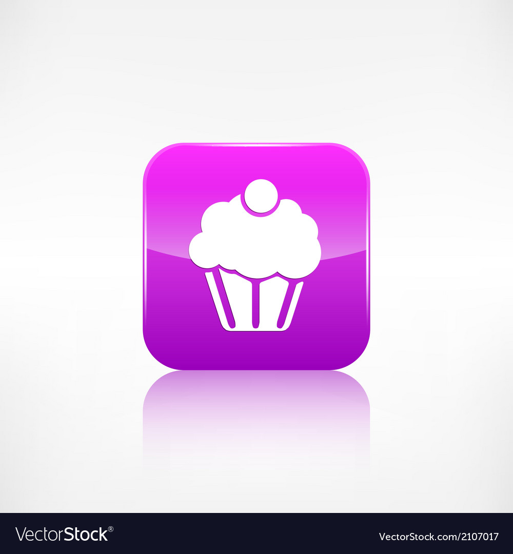 Cake web icon application button vector | Price: 1 Credit (USD $1)