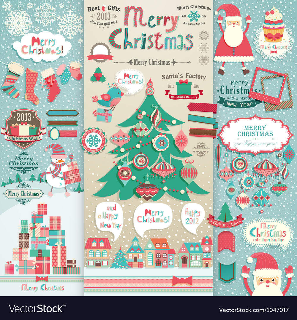 Christmas scrapbook vector | Price: 3 Credit (USD $3)