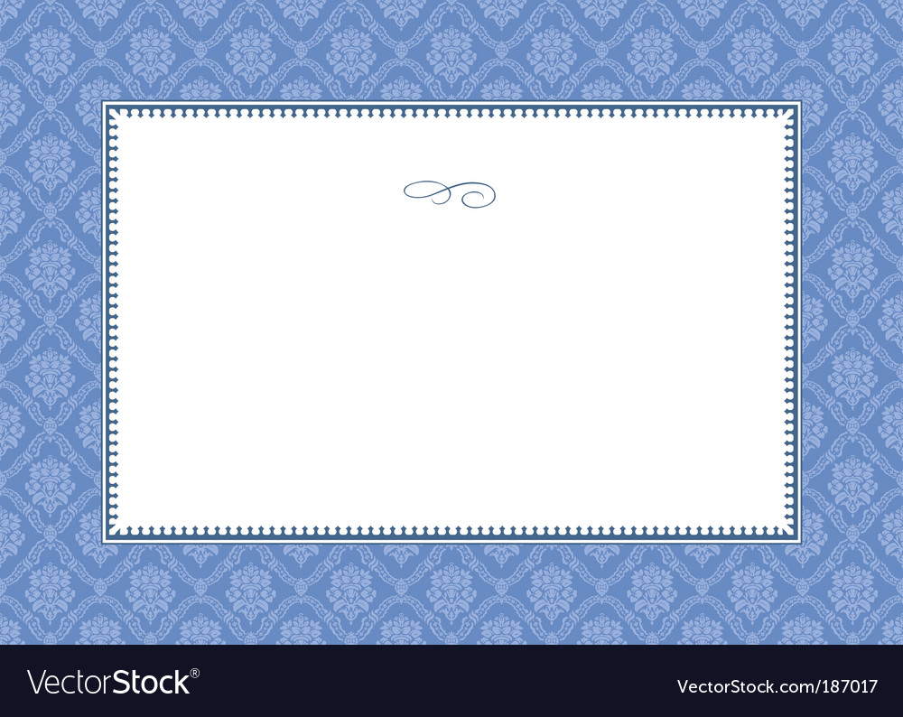 Frame and floral pattern vector | Price: 1 Credit (USD $1)