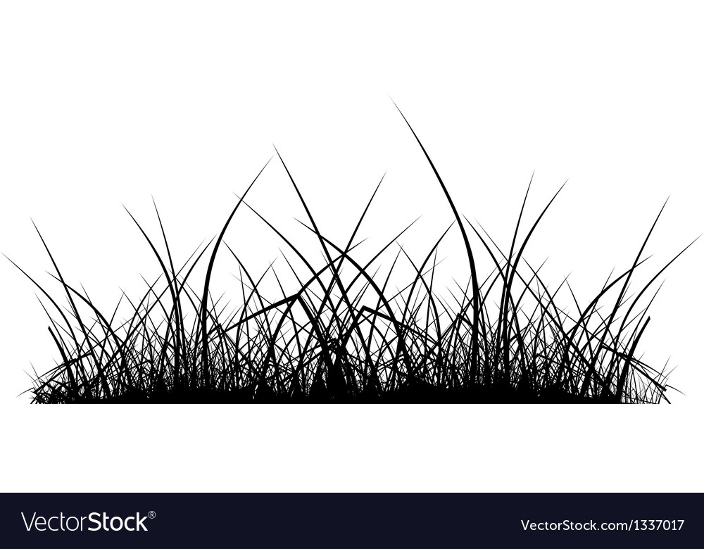 Grass silhouette vector | Price: 1 Credit (USD $1)