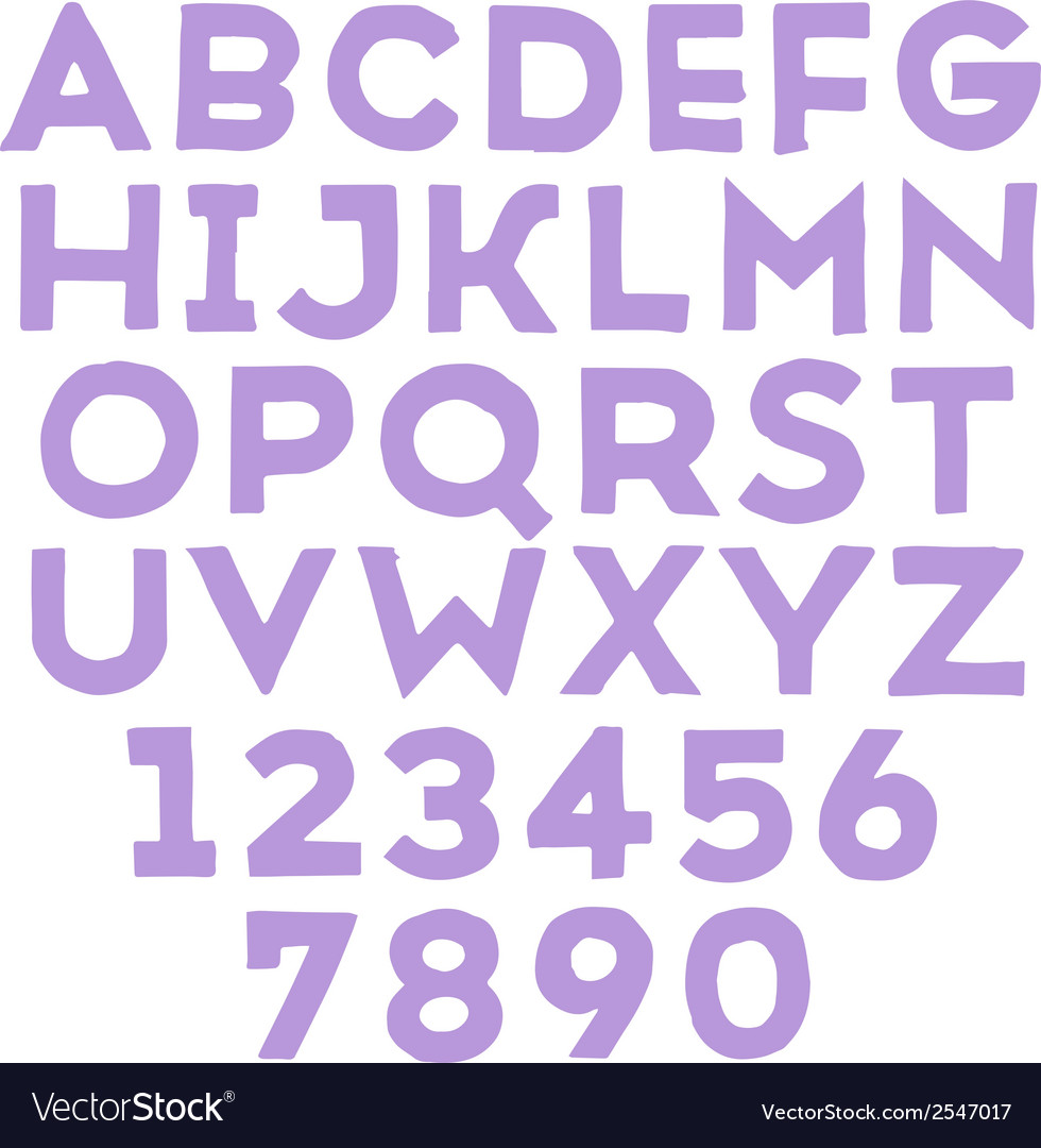 Handmade sans-serif font vector | Price: 1 Credit (USD $1)
