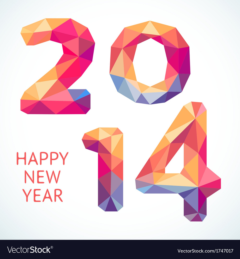 Happy new year colorful greeting card made in vector | Price: 1 Credit (USD $1)