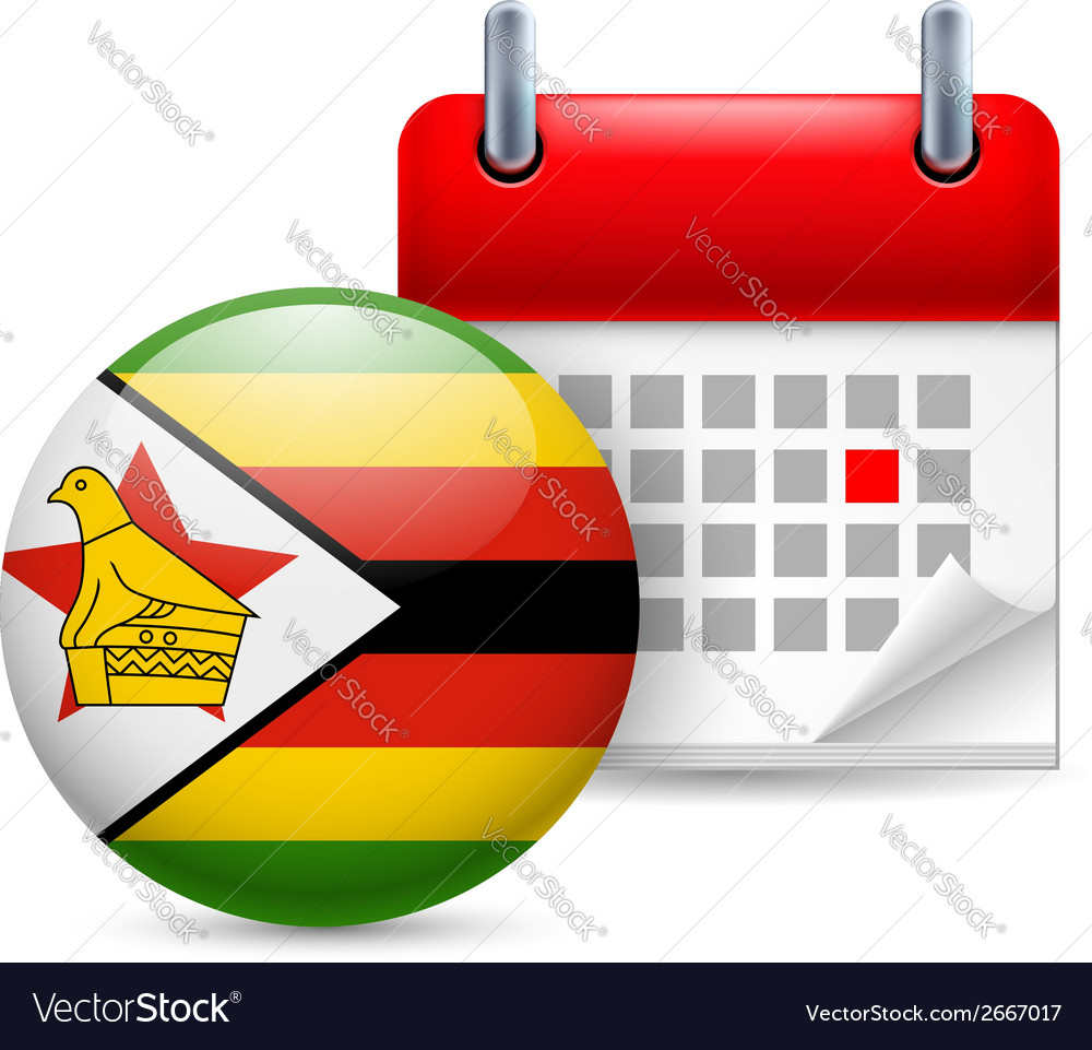 Icon of national day in zimbabwe vector | Price: 1 Credit (USD $1)