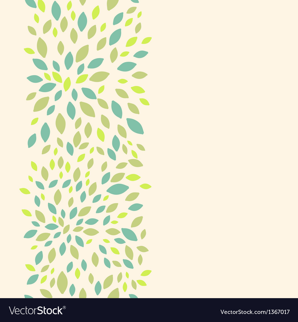 Leaf texture vertical seamless pattern background vector | Price: 1 Credit (USD $1)