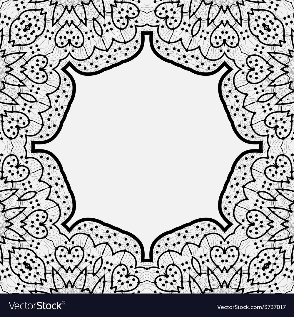 Ornamental frame border in indian mandala style vector   Price: 1 Credit (USD $1)