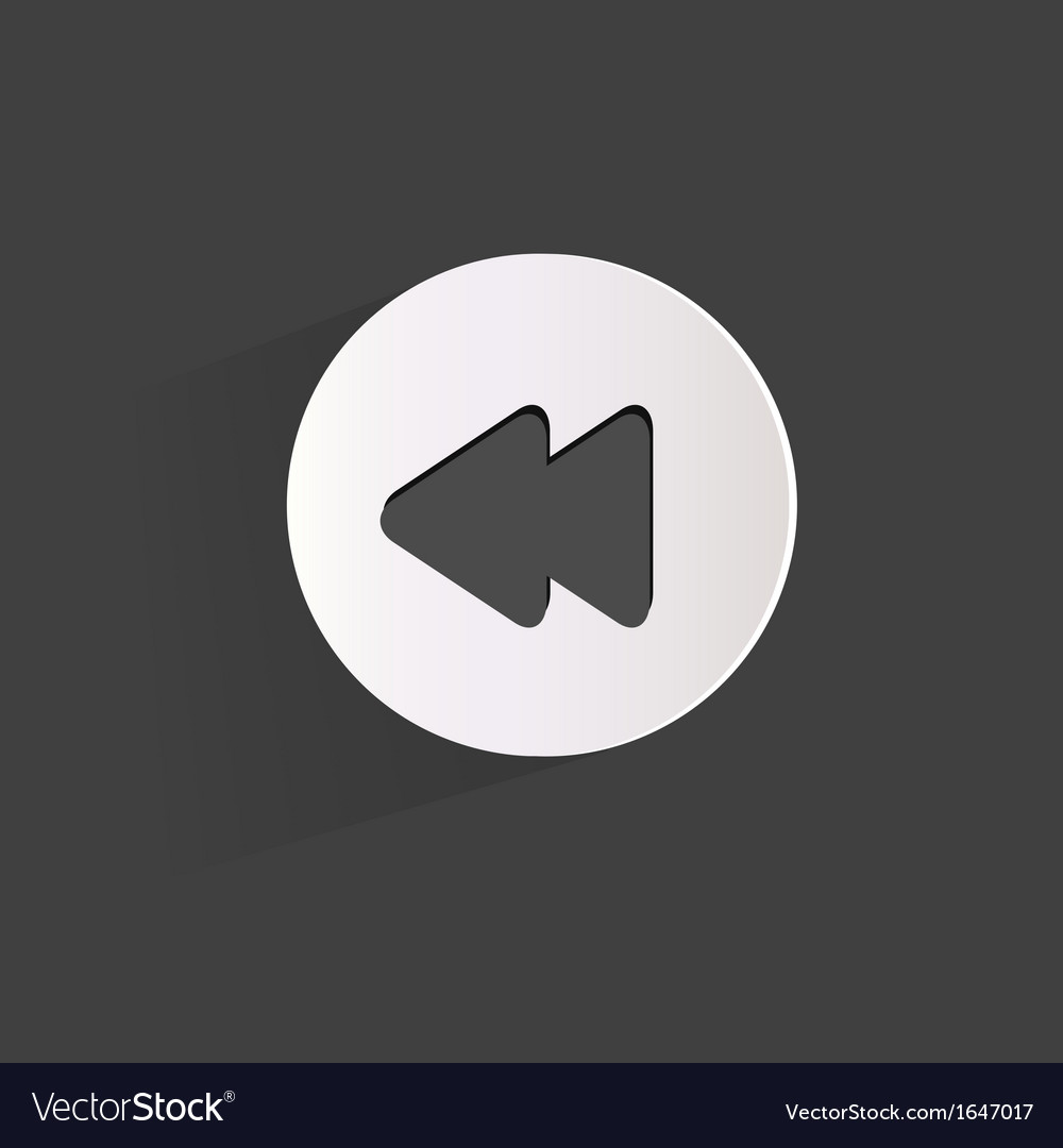 Reverse or rewind web icon vector | Price: 1 Credit (USD $1)