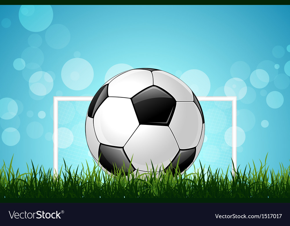 Soccer ball in green grass vector | Price: 1 Credit (USD $1)