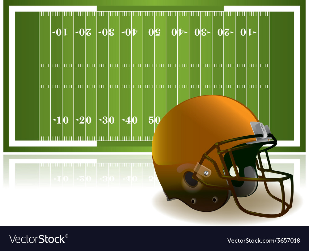 American football helmet and field vector | Price: 3 Credit (USD $3)