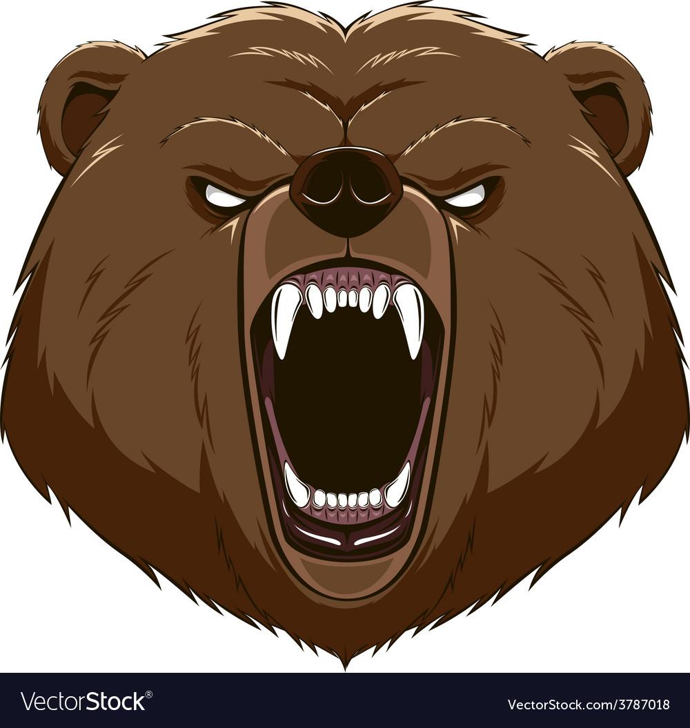 Angry bear head mascot vector | Price: 1 Credit (USD $1)