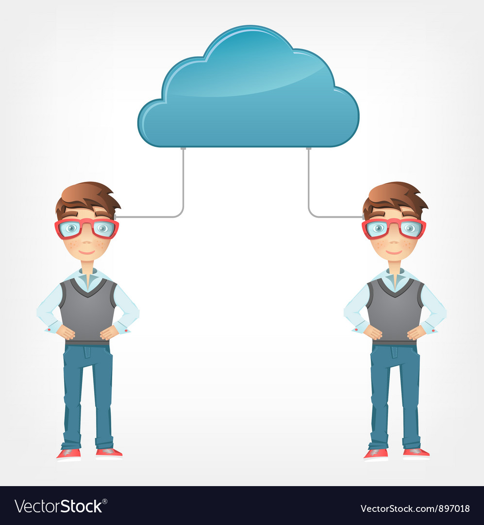 Cloud concept vector | Price: 3 Credit (USD $3)