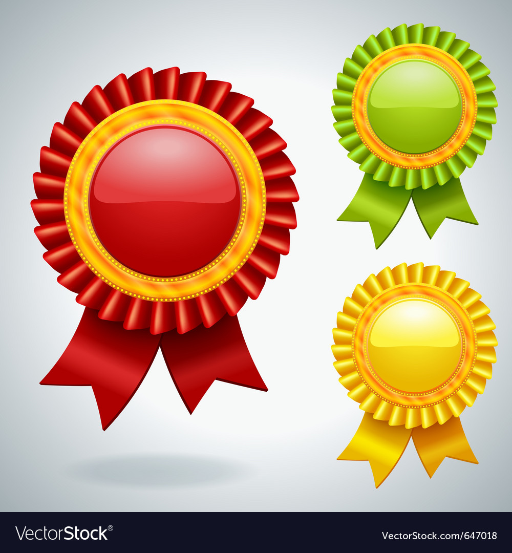 Collection of three medals vector | Price: 1 Credit (USD $1)