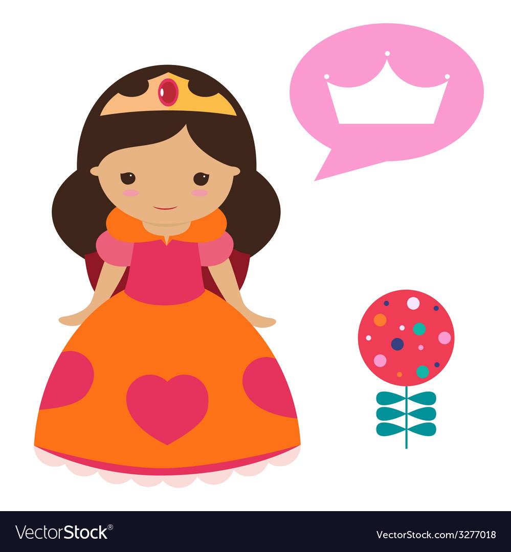 Cute princess set vector | Price: 1 Credit (USD $1)