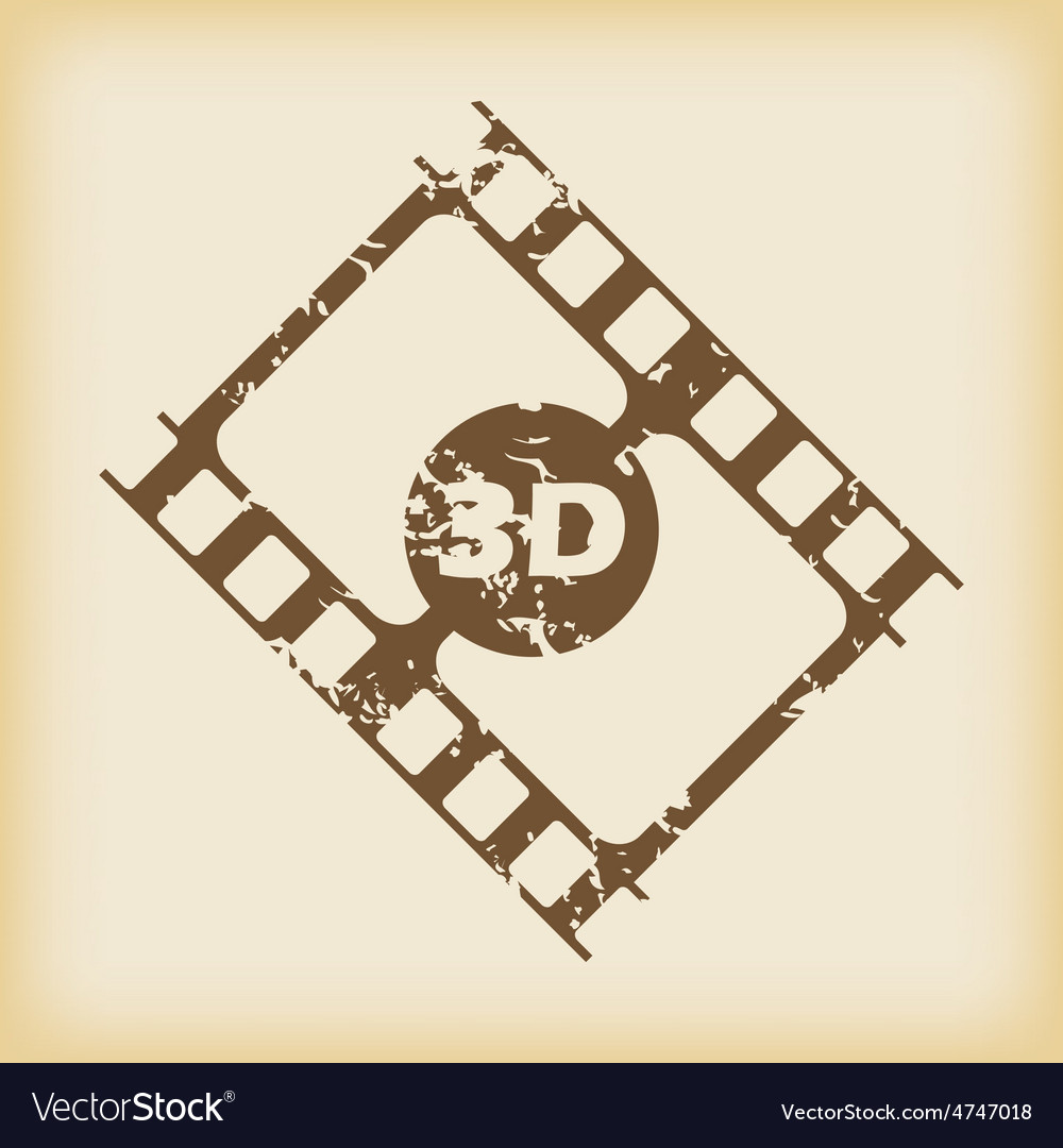 Grungy 3d film icon vector | Price: 1 Credit (USD $1)