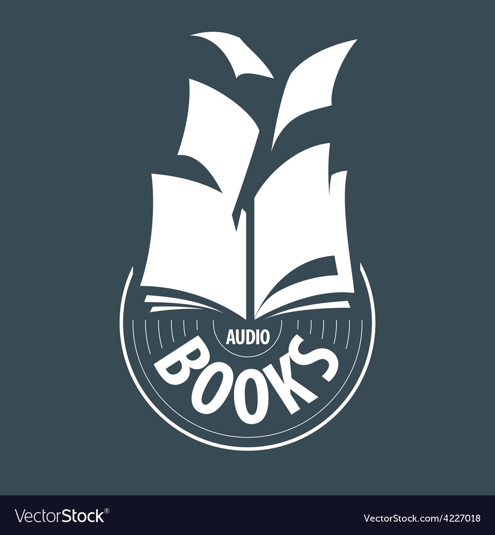 Logo audiobooks fly away sheets vector | Price: 1 Credit (USD $1)