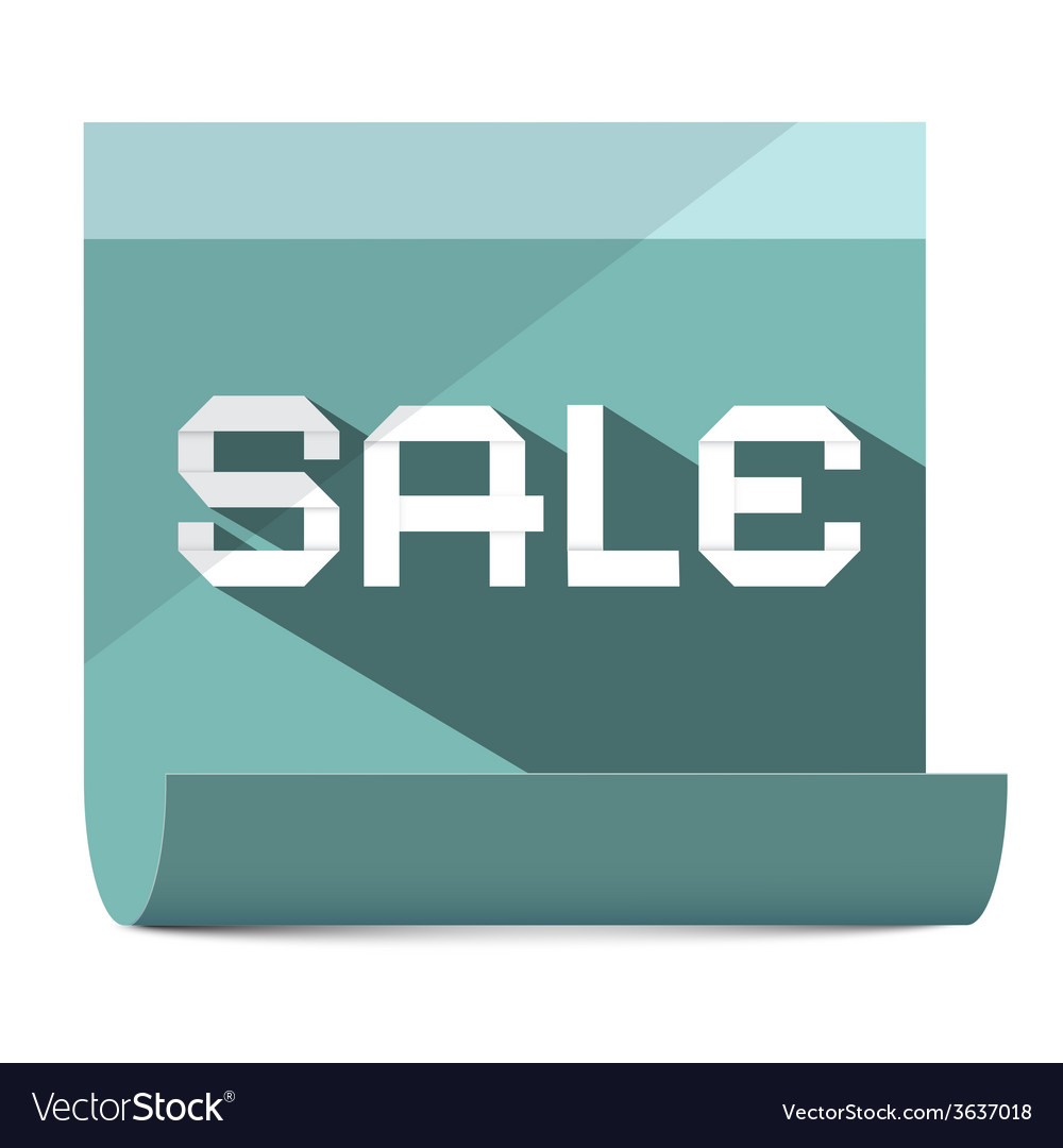 Sale title on paper sheet vector | Price: 1 Credit (USD $1)