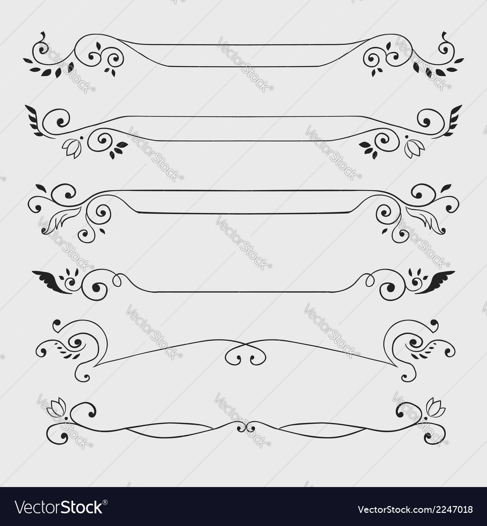 Vintage text dividers vector | Price: 1 Credit (USD $1)