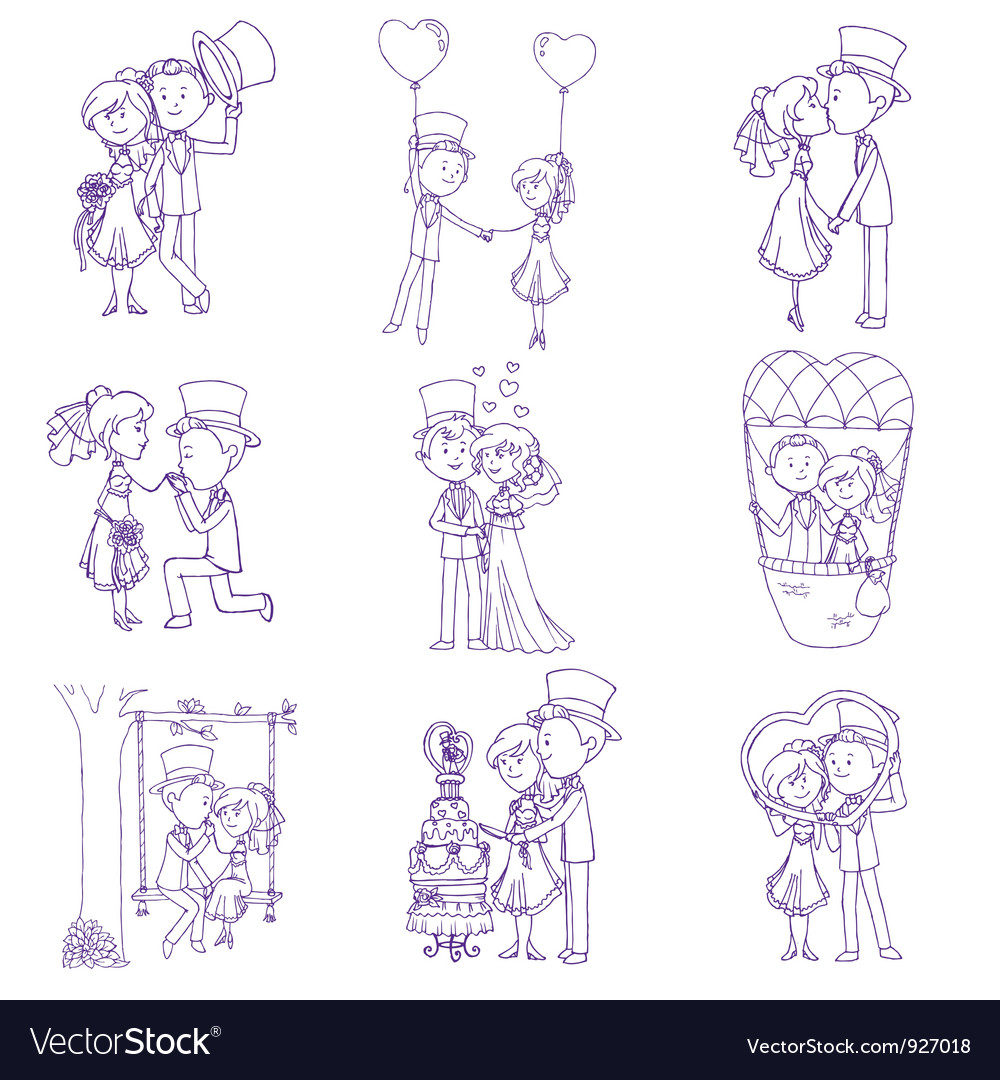 Wedding doodles vector | Price: 3 Credit (USD $3)
