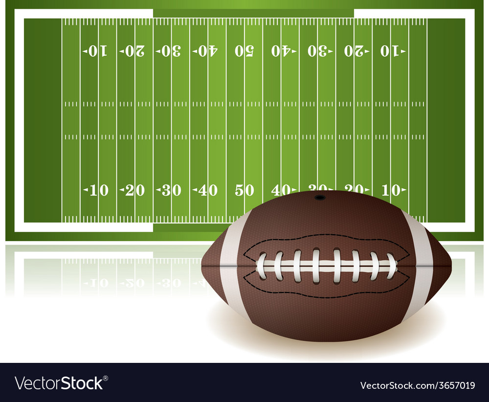 American football field and ball vector | Price: 3 Credit (USD $3)