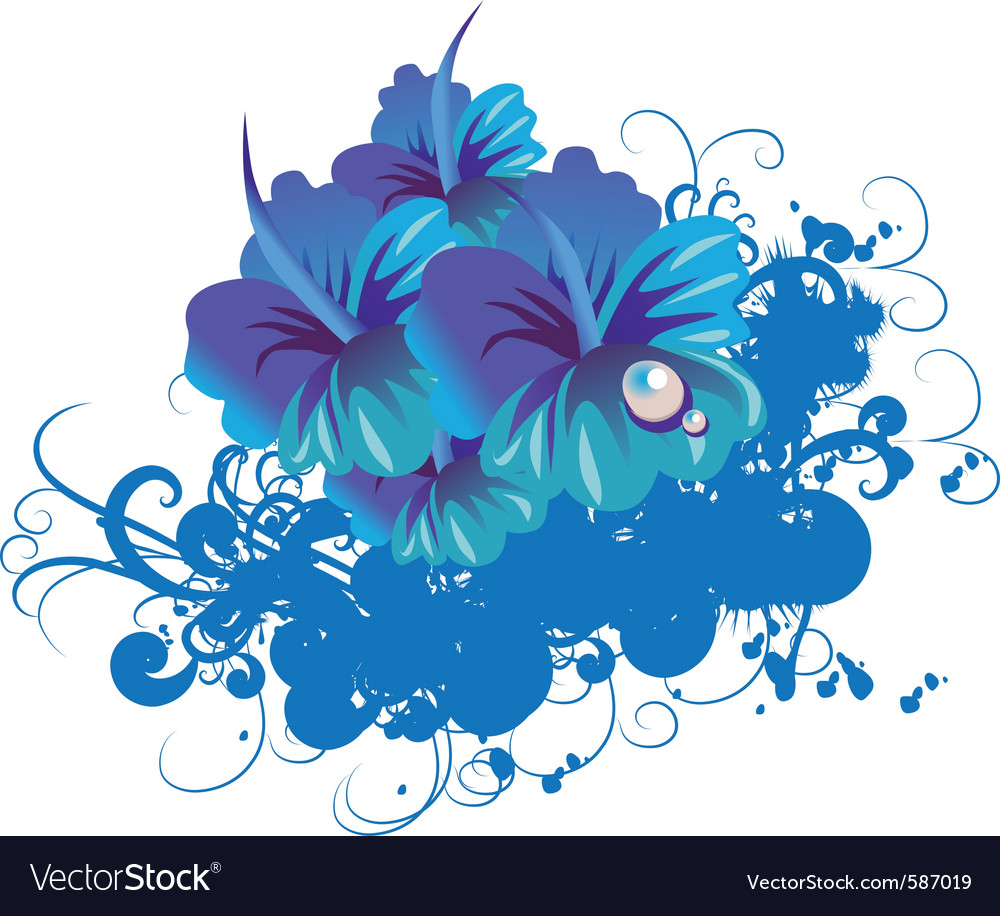 Funky flower vector | Price: 1 Credit (USD $1)