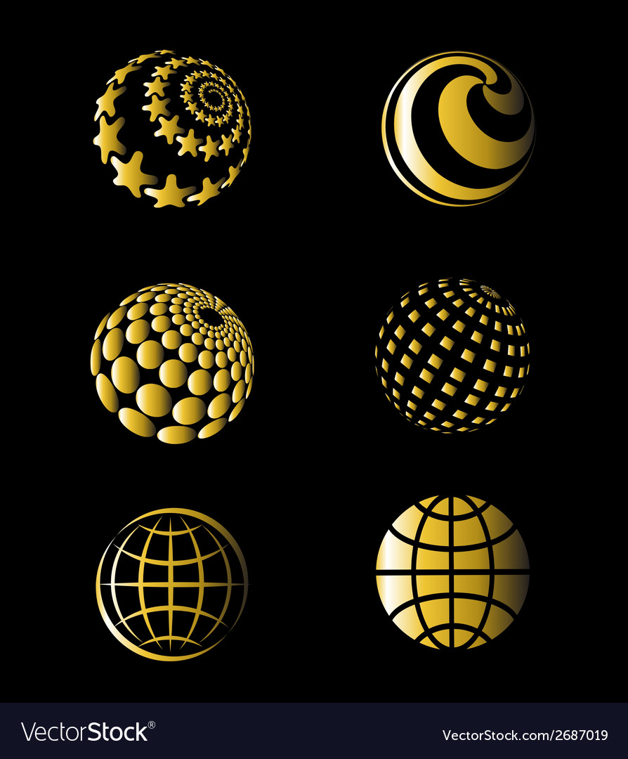 Golden of earth set vector | Price: 1 Credit (USD $1)