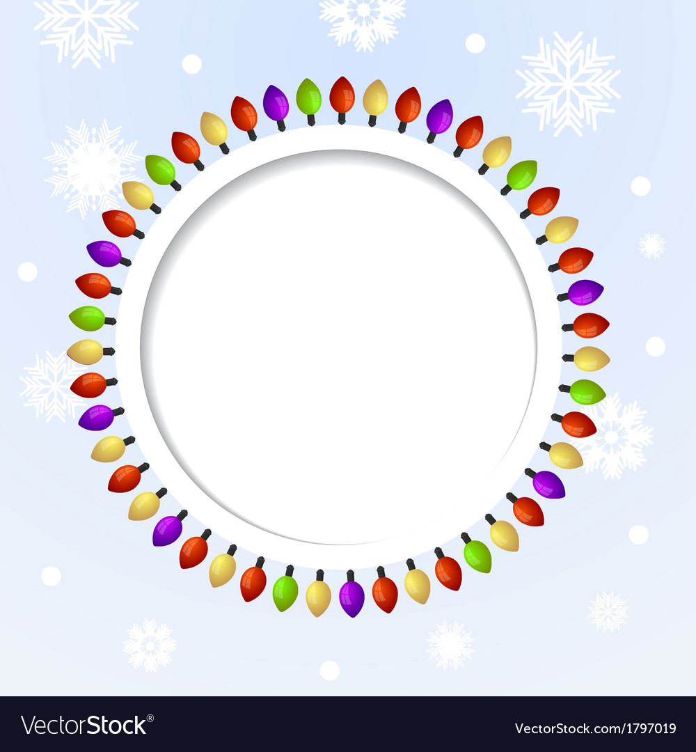 Round abstract background with christmas lights vector | Price: 1 Credit (USD $1)