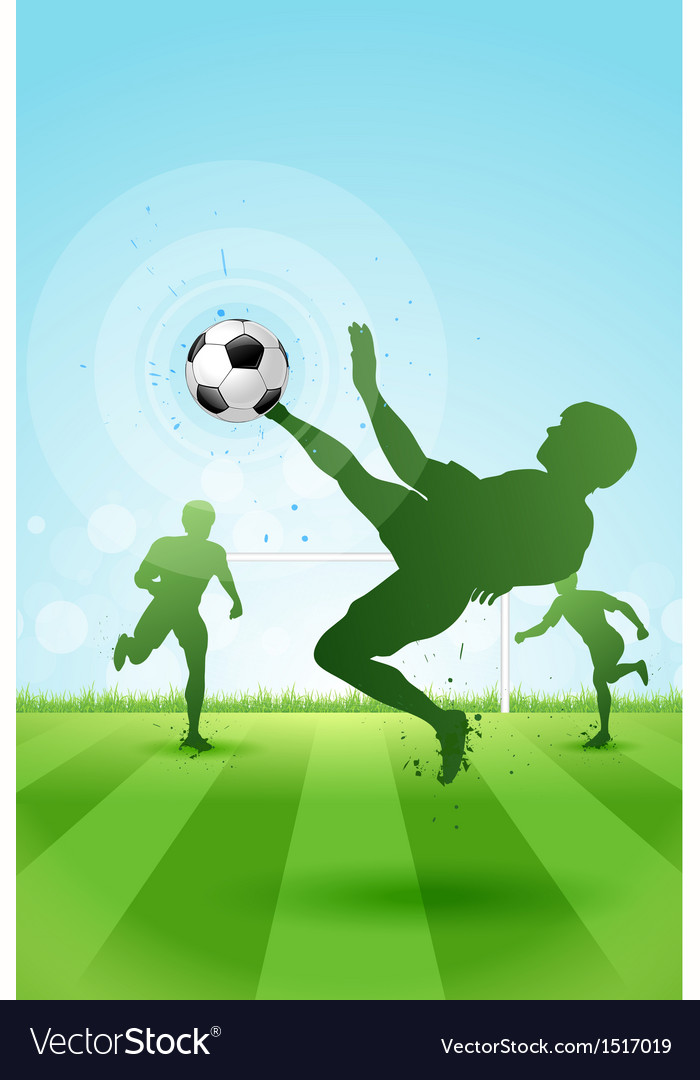 Soccer background with three players vector | Price: 1 Credit (USD $1)