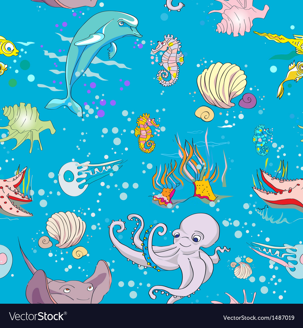 Underwater pattern vector | Price: 1 Credit (USD $1)
