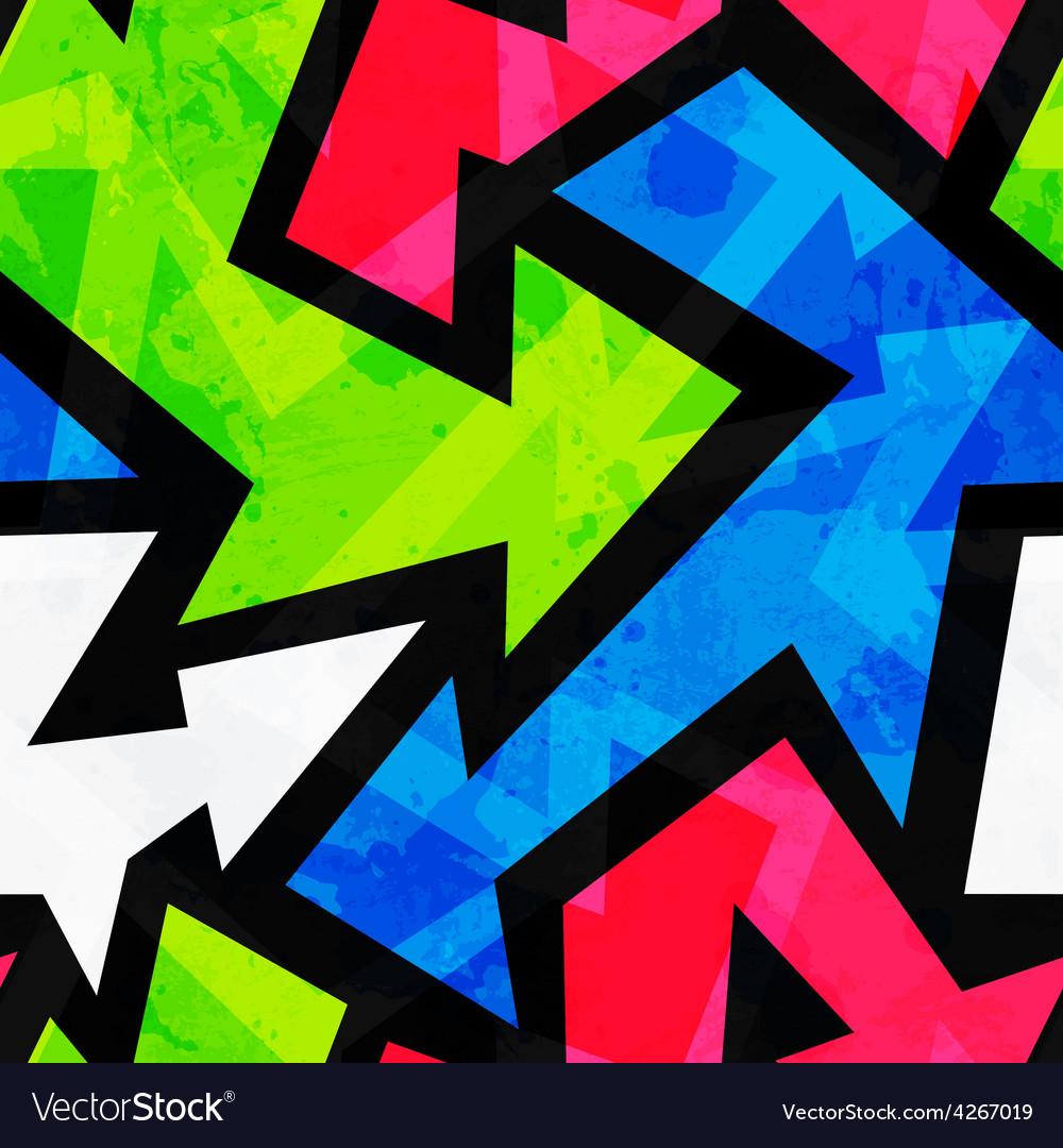Urban bright geometric seamless pattern vector | Price: 1 Credit (USD $1)