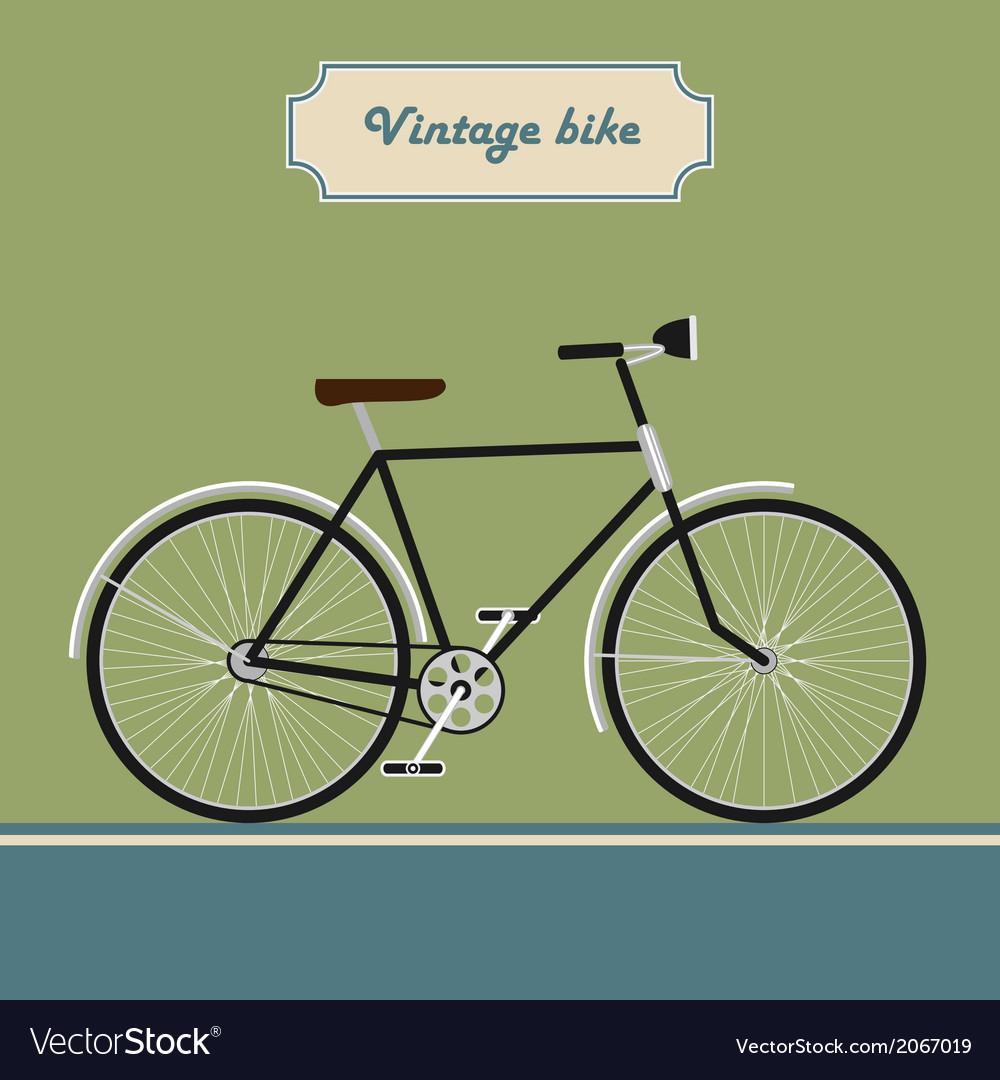 Vintage bike vector | Price: 1 Credit (USD $1)