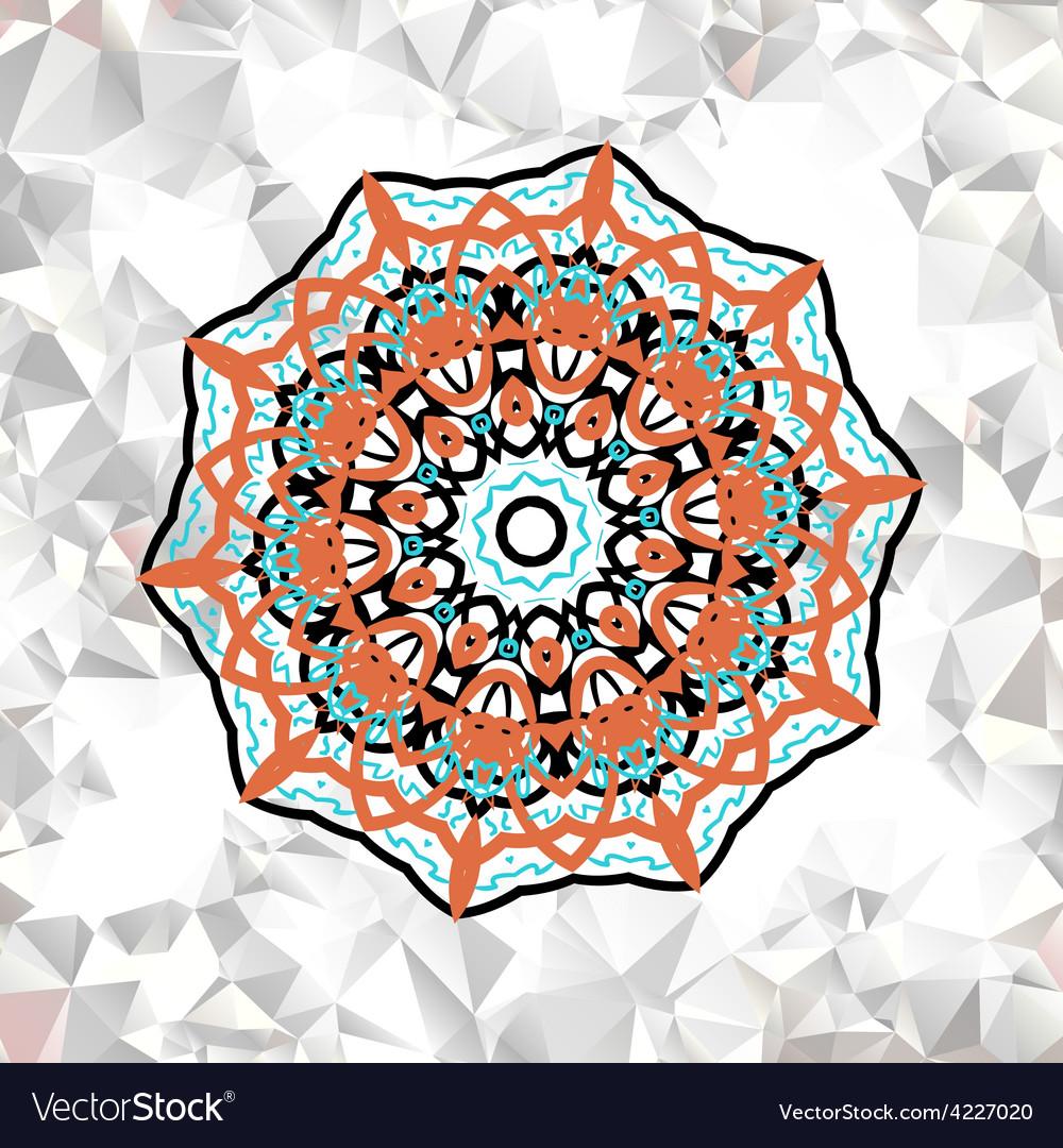 Abstract circle ornamental border vector | Price: 1 Credit (USD $1)