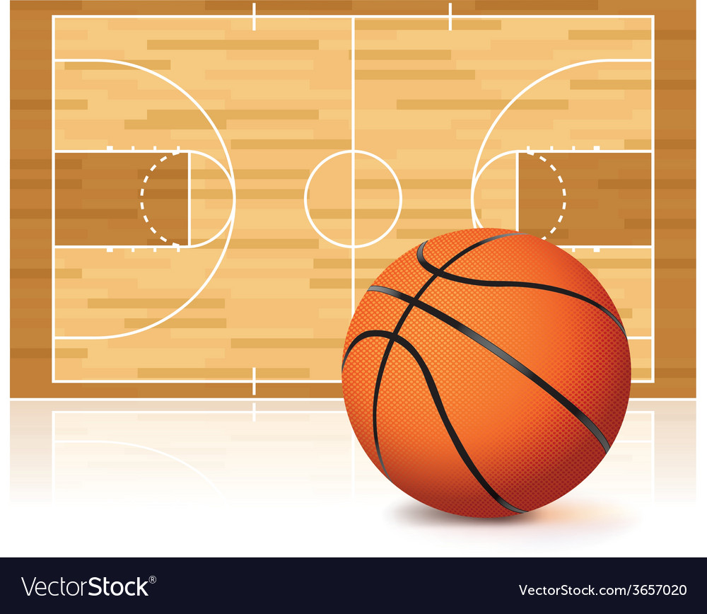 Basketball court and ball vector | Price: 3 Credit (USD $3)
