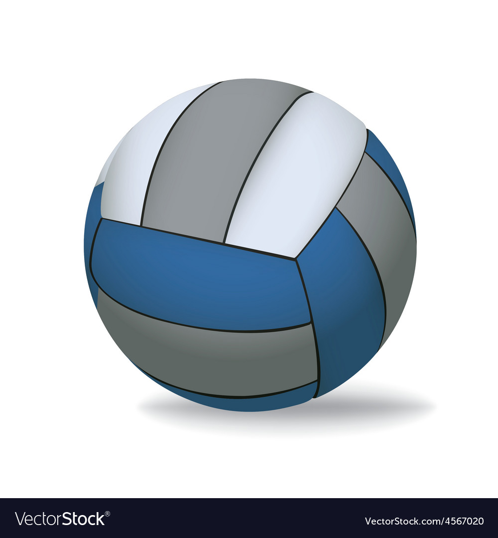 Blue and grey volleyball isolated on white vector | Price: 1 Credit (USD $1)