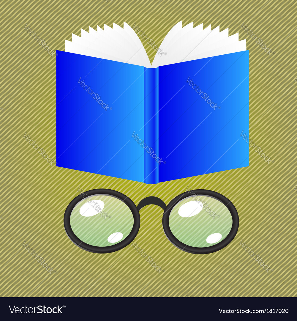 Book and glasses vector | Price: 1 Credit (USD $1)