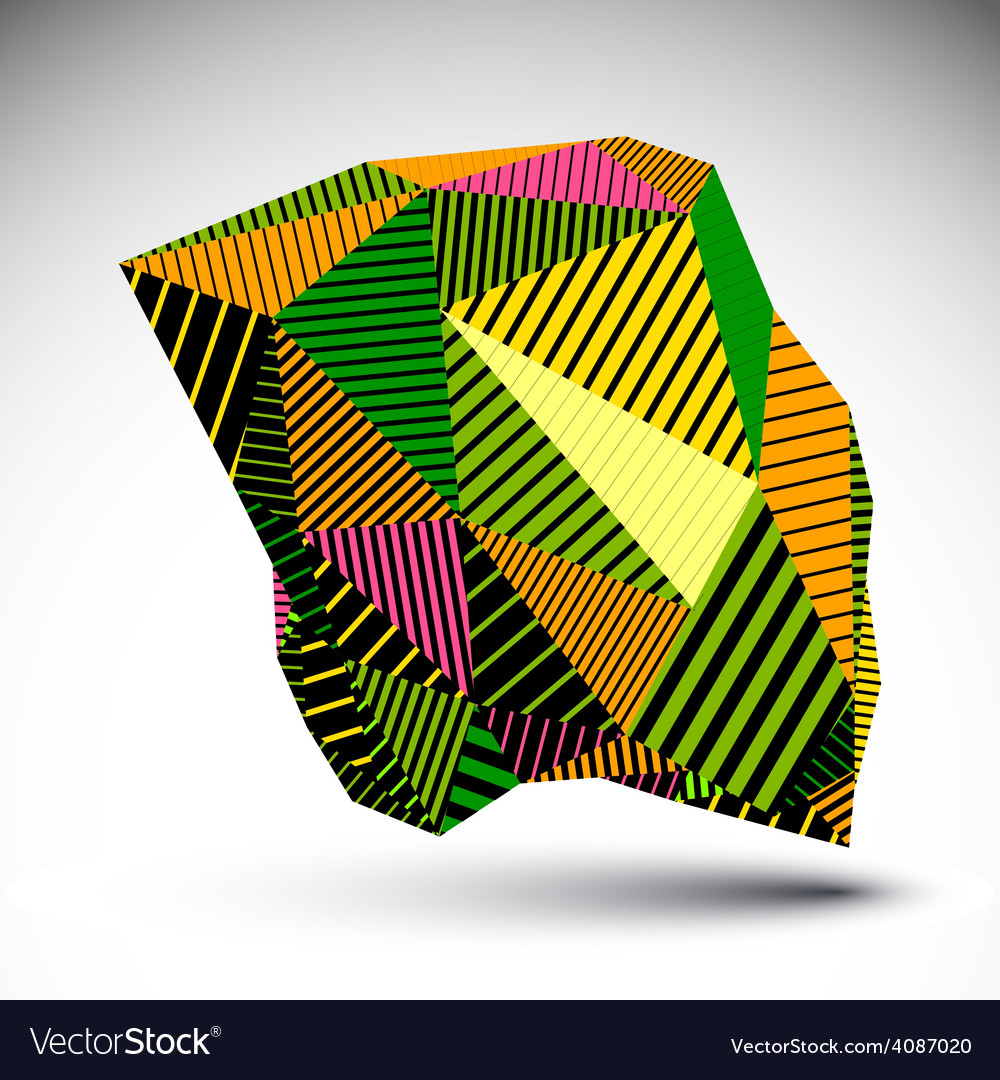 Bright geometric abstract 3d complicated backdrop vector | Price: 1 Credit (USD $1)