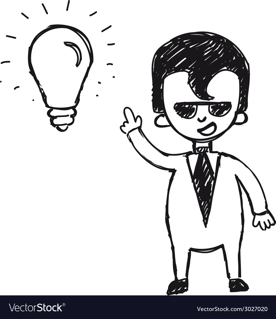 Businessman with ideas vector | Price: 1 Credit (USD $1)