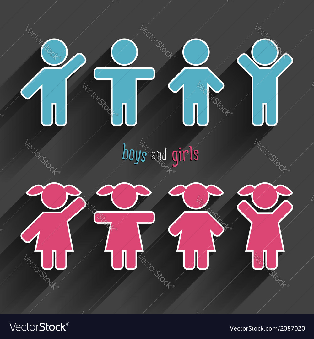 Children icons set vector | Price: 1 Credit (USD $1)
