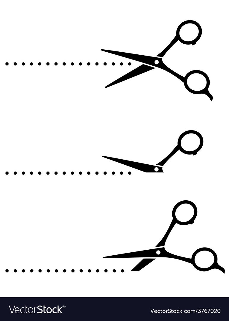 Cutting scissors and black points vector | Price: 1 Credit (USD $1)