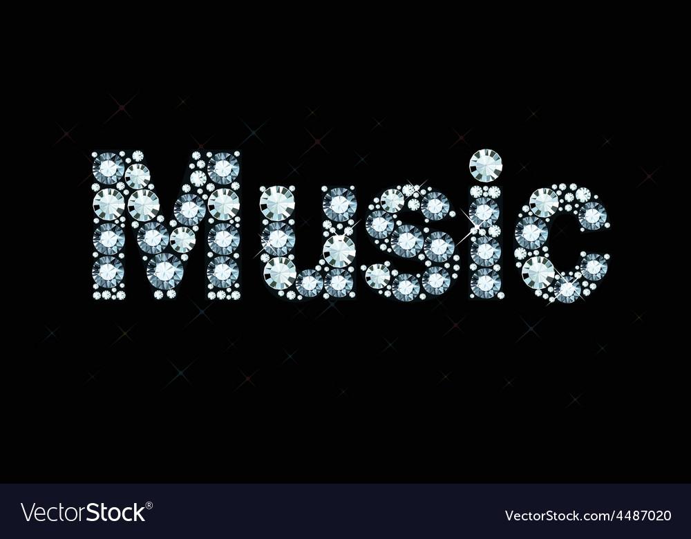 Diamond word music vector | Price: 1 Credit (USD $1)