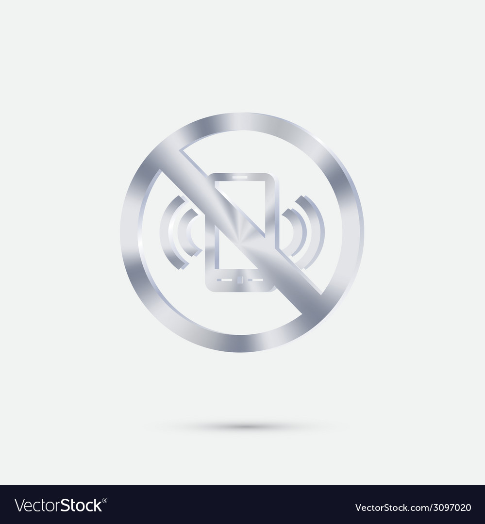 Forbidden to use mobile phone vector | Price: 1 Credit (USD $1)