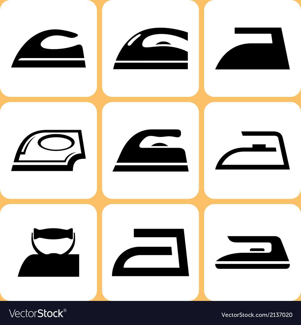 Iron icons set vector | Price: 1 Credit (USD $1)