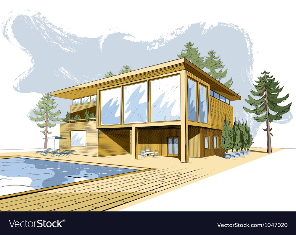Modern house vector | Price: 5 Credit (USD $5)