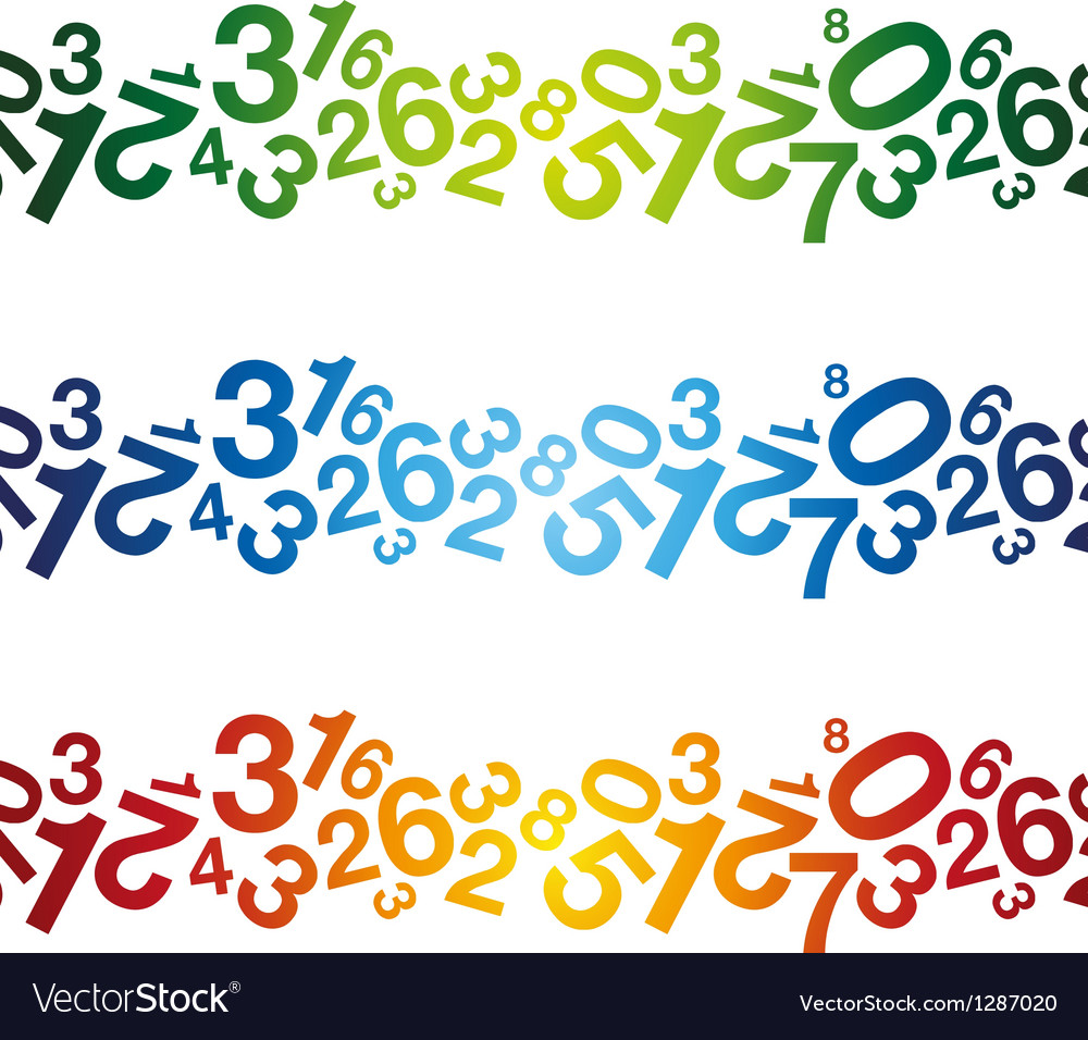 Multi coloured number background vector | Price: 1 Credit (USD $1)