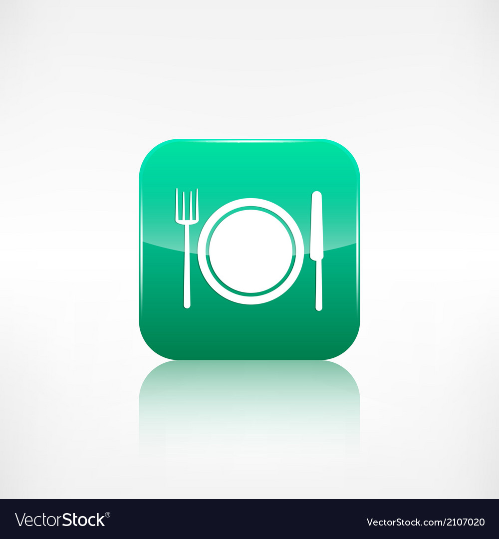 Platefork and knife icon application button vector | Price: 1 Credit (USD $1)