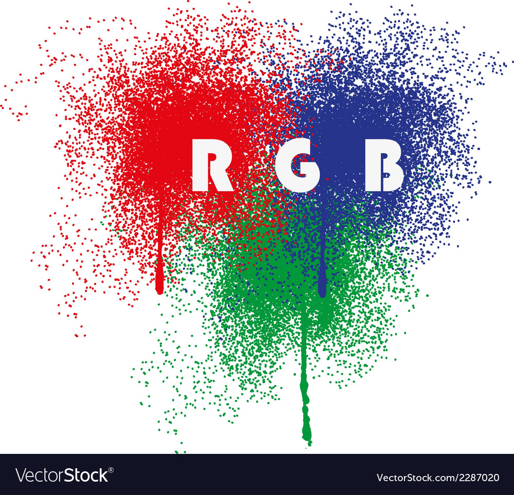 Rgb splatter vector | Price: 1 Credit (USD $1)